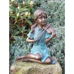 Bronzefiguren - Mädchen mit Geige