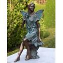 Bronzefiguren - Fee mit Blumen