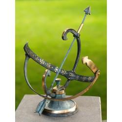 Bronzefiguren - Sonnenuhr