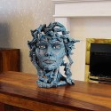 Edge Sculpture - Venus Bust teal blue