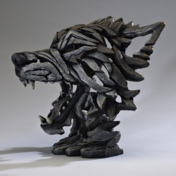 Edge Sculpture - Wolf Bust Timber