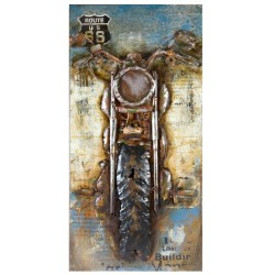 Metallbild - Motorcycle