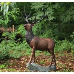Bronzefiguren - Hirsch lebensgross