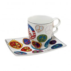 James Rizzi - Mug Love and Peace white