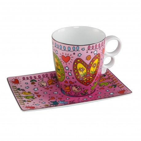 James Rizzi - Mug Peace Of Love    NEU