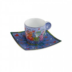 James Rizzi - Espressoset Beautiful Birds   NEU