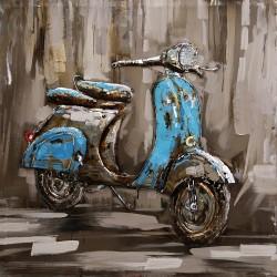 Metallbild - Roller classico blau