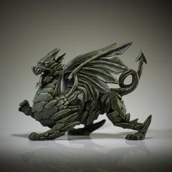 Edge Sculpture - Dragon green