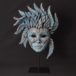 Edge Sculpture - Venetian Carnival Mask Teal