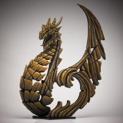 Edge Sculpture - Heraldic Dragon Golden NEU