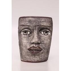 U. Völkl-Fischer - Maske silbergrau
