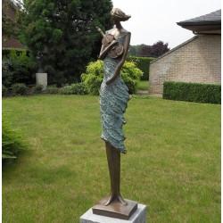 Bronzefiguren - Geigerin