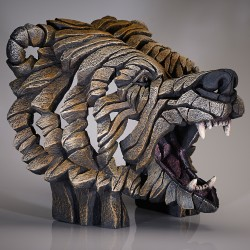 Edge Sculpture - Grizzly Bust