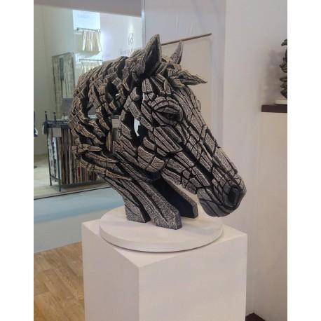 Edge Sculpture - Horse Bust White