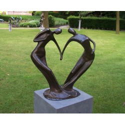 Bronzefiguren - Paar des Herzens L
