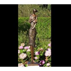 Bronzefiguren - Geigerin bronce