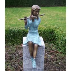 Bronzefiguren - Flötenspielerin