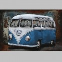 Metallbild - VW-Bus classic blau NEU
