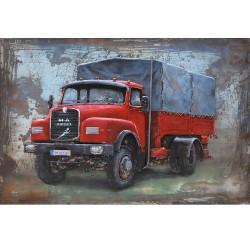 Metallbild - Truck classic rot NEU