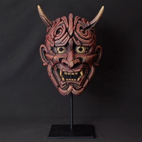 Edge Sculpture - Japanese Hannya Mask Antique Red NEU
