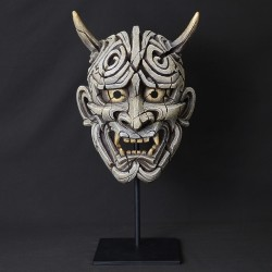 Edge Sculpture - Japanese Hannya Mask Antique White NEU