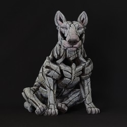 Edge Sculpture - Bull Terrier White NEU