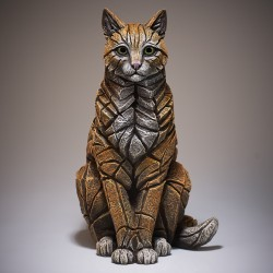 Edge Sculpture - Cat Sitting Ginger NEU