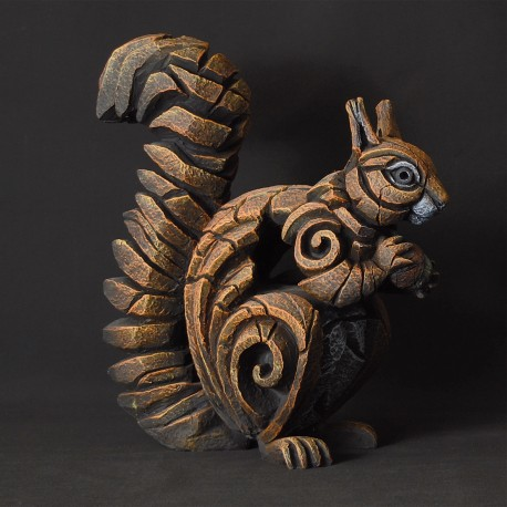 Edge Sculpture - Squirrel Red