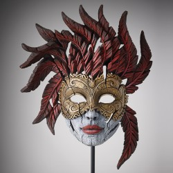 Edge Sculpture - Venetian Carnival Mask Masquerade NEU