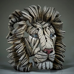 Edge Sculpture - Lion Bust White Lion NEU