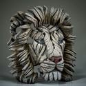 Edge Sculpture - Lion Bust White Lion