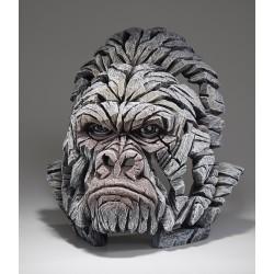 Edge Sculpture - Gorilla Bust White