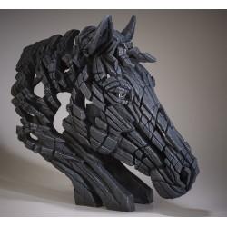 Edge Sculpture - Horse Bust Black